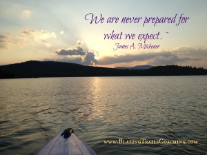 We are never prepared for what we expect