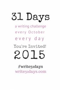 Write 31 Days